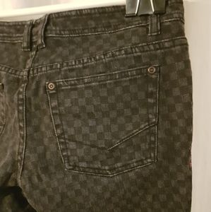 Vans jeans, vintage checkered print